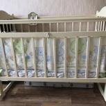 Детская кроватка с ортопидическим матрасом, Пермь
