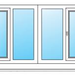 Балкон ПВХ Одностворчатые профиль 58мм стеклопакет 32мм, Пермь