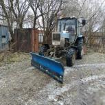 Трактор мтз с щеткой и отвалом, Пермь