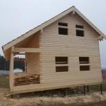 Дома срубы из бруса 6х8 с террасой, Пермь