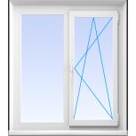 Окна пластиковые двустворчатые профиль 58мм стеклопакет 32мм, Пермь