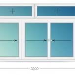 Балкон ПВХ Трехстворчатые профиль 58мм стеклопакет 24мм, Пермь