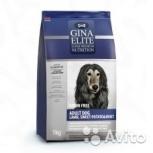 Gina Elite Grain Free Adult Dog Lamb, Sweet Potato, Пермь