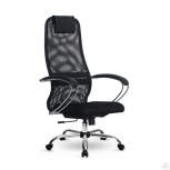 Кресло офисное метта s-bk 8 (черный), пятилучие ch, Пермь