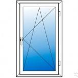 Окна пластиковые одностворчатые профиль  алюмин 58мм стеклопакет 24мм, Пермь