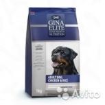Gina Elite Dog ChikenRice корм для собак с Курице, Пермь