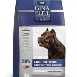 GINA Elite Grain Free Large Dog беззерн.корм для собак кр.пород с 3 кг, Пермь