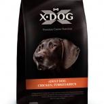X-DOG Корм для собак Adult Dog Chicken, Turrkey&Rice 3 кг, Пермь