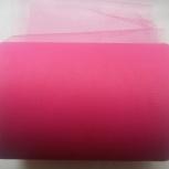 Фатин нейлоновый 15см средней жёсткости цвет Ярко-розовый., Пермь