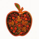 Доска разделочная яблоко с хохломской росписью 260*200, Пермь