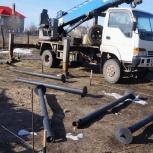 Ямобур в аренду, установка столбов-опор, винтовые сваи, Пермь