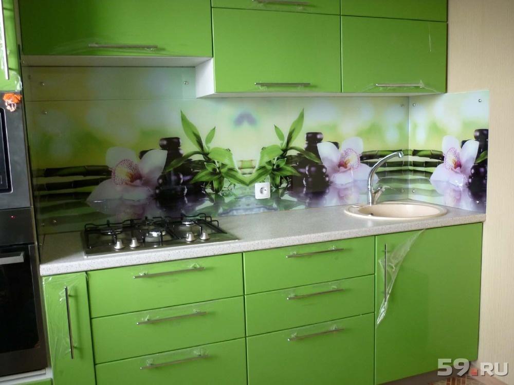 Фартук для кухни из стекла пермь